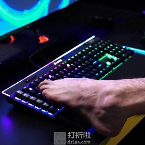 Corsair 海盗船 Gaming K95 RGB 白金版 旗舰机械键盘 银轴 6.5折$129.99 海淘转运到手约¥1099 中亚Prime会员免运费直邮到手约¥1077