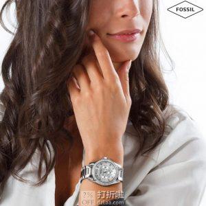金盒特价 Fossil 化石 Riley ES3202 施华洛世奇水晶 女式腕表 4.3折$48.99史低 海淘关税补贴到手约¥466