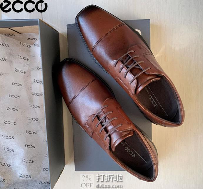 ECCO 爱步 Minneapolis 明斯系列 男式皮鞋 正装鞋 4.7折$69.99 海淘转运到手约¥571 中亚Prime会员免运费直邮到手约¥535