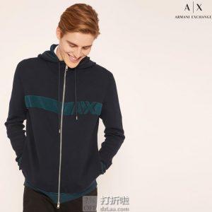 ARMANI EXCHANGE 阿玛尼 男式连帽针织外套 M码3.8折$47.75 海淘转运到手约¥365 国内¥768