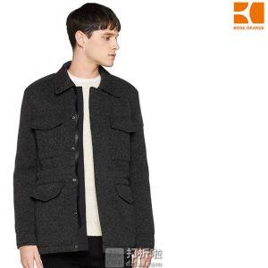 限尺码 HUGO BOSS Orange 雨果博斯 橙标 Orisso 羊毛混纺 男式夹克 ¥787 中亚Prime会员免运费直邮到手约¥864