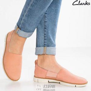 Clarks 其乐 Tri Verve 一脚套 三瓣底女式休闲鞋 乐福鞋 37码¥415 中亚Prime会员免运费直邮到手约¥423