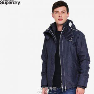 限尺码 Superdry 极度干燥 Arctic Hooded 防风男式连帽夹克 ¥270起 中亚Prime会员免运费直邮到手约¥308