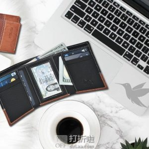 金盒特价 ESTALON 防RFID信息窃取 男式三折钱包礼盒装 $7.64 海淘转运到手约¥60