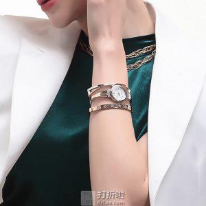 金盒特价 Anne Klein AK 女式手表手镯套装 AK/2245RTST 3.3折$48.99 海淘转运关税补贴到手约¥470 中亚Prime会员免运费直邮到手约¥385
