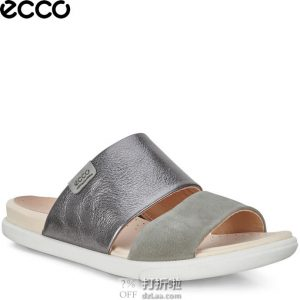限尺码 ECCO 爱步 Damara Slide Ii 女式拖鞋 凉鞋 3.8折$44.95 海淘转运到手约¥362 中亚Prime会员免运费直邮到手约¥429