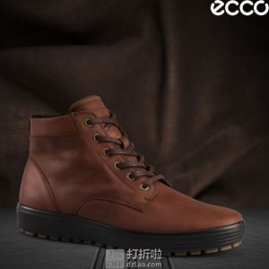 ECCO 爱步 柔酷7号 Tred 男式保暖高帮休闲鞋 43码¥477 中亚Prime会员免运费直邮到手约¥530