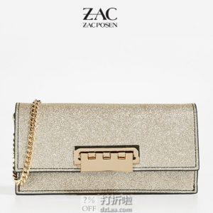 ZAC Zac Posen 扎克·珀森 EARTHETTE Flat 女式挎包 1.8折$53.99 海淘转运到手约¥411 中亚Prime会员可免运费直邮到手约¥427