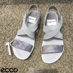 ECCO 爱步 Damara Crisscross 达玛拉系列 女式凉鞋 37码4.5折$54.53 海淘转运到手约¥431 中亚Prime会员可免运费直邮到手约¥414