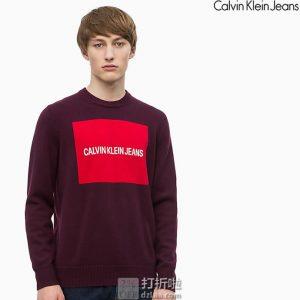 Calvin Klein Jeans 卡尔文克莱因 CK 羊毛混纺 圆领男式毛衣 针织衫 S码2.9折$25.59 海淘转运到手¥234