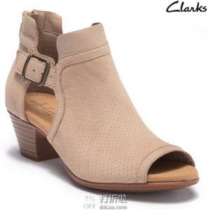 Clarks 其乐 Valarie Kimble 女式粗跟凉鞋 4.8折$63.99 海淘转运到手约¥526 中亚Prime会员免运费直邮到手约¥484