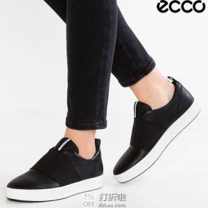 ECCO 爱步 柔酷8号 弹力鞋面 一脚套女式休闲鞋 36码4.1折$69.95 海淘转运到手约¥567 中亚Prime会员可免运费直邮到手约¥552