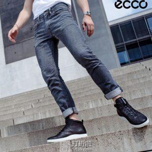 限尺码 ECCO 爱步 SOFT 1 柔酷1号 男式高帮板鞋 ¥525 中亚Prime会员免运费直邮到手约¥582