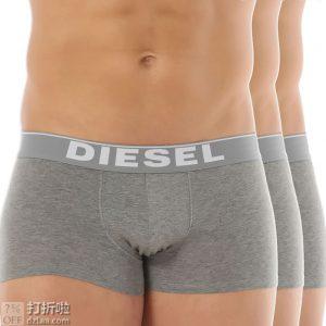 Diesel 迪赛 kory 基础款 弹力棉 男式四角内裤*3条装 5.1折$19.95 海淘转运到手约¥146 中亚Prime会员可凑单免运费直邮到手约¥167