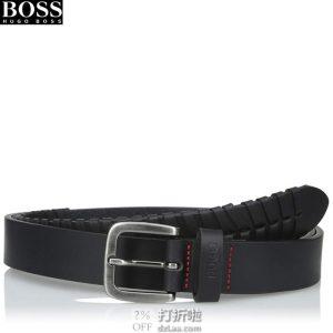 Hugo Boss 雨果博斯 Guear t 男式皮带 90码3.4折$41.77 海淘转运到手约¥308 中亚Prime会员免运费直邮到手约¥317