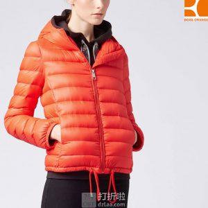 HUGO BOSS Orange 雨果博斯 橙标 Ofave 轻量女式连帽羽绒服 L码¥938 中亚Prime会员免运费直邮到手约¥1035
