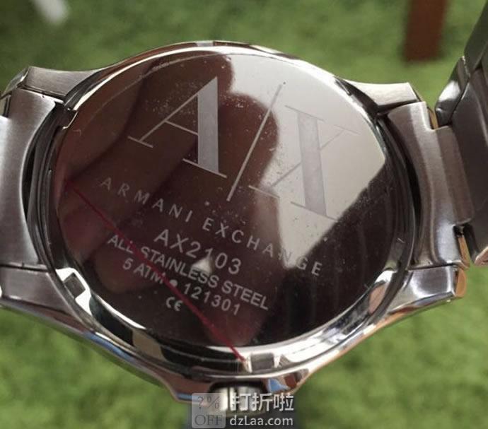 A/X Armani Exchange 男式时装腕表 AX2103 5.4折.98 海淘转运关税补贴到手约¥735