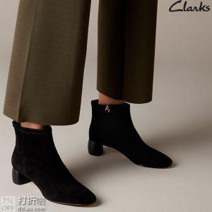限尺码 Clarks 其乐 Grace Bella 女式短靴 ¥235