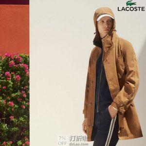 Lacoste 法国鳄鱼 男式风衣外套 XS码2.1折$77.12 海淘转运到手约¥590