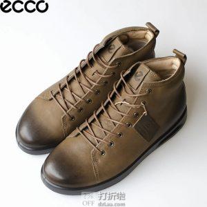ECCO 爱步 Corksphere 1 酷型 男式高帮系带休闲鞋 41码¥510 中亚Prime会员单免运费直邮到手约¥572