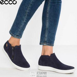 ECCO 爱步 SOFT 7 柔酷7号 侧拉链 女式休闲鞋 35码3.1折$51.87 淘转运到手约¥448 中亚Prime会员免运费直邮到手约¥407
