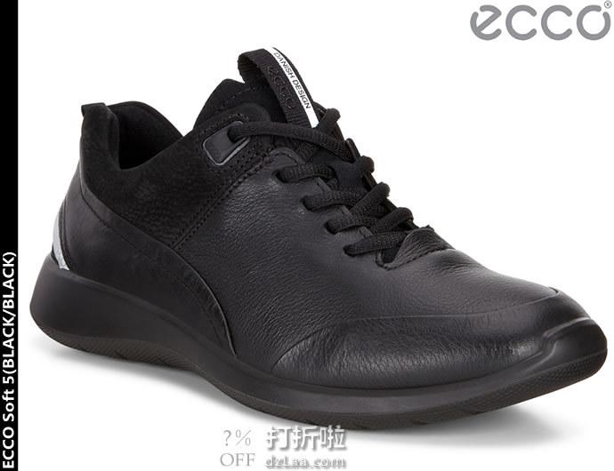限尺码 ECCO 爱步 Soft 5 柔酷5号 女式休闲鞋 ¥432起 中亚Prime会员免运费直邮到手约¥478