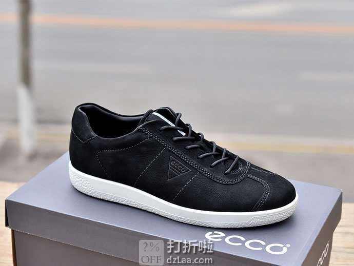ECCO 爱步 Soft 1 柔酷1 男式休闲鞋 板鞋 41加宽码 ¥409 中亚Prime会员免运费直邮到手约¥452