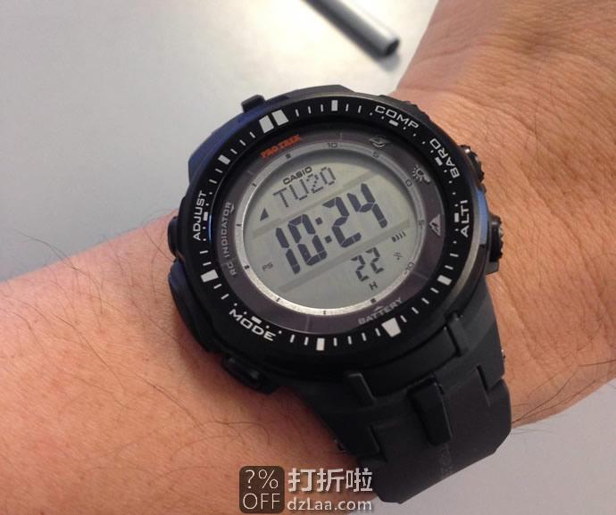 金盒特价 Casio PRW-3000-1CR 卡西欧 太阳能3重感应6局电波户外登山表(正显) 4.3折$129.99 海淘关税补贴到手约¥1031