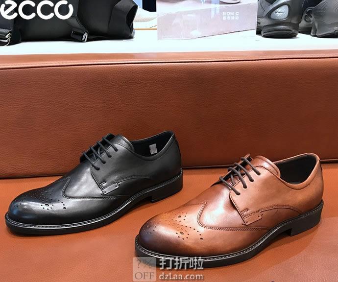ECCO 爱步 19年春季新款 Vitrus III 唯图系列 布洛克鞋 男式正装鞋 ¥693 两色可选 天猫¥1649