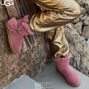断码2.5折 UGG 经典迷你新奇雪地靴 别致蝴蝶结款 $43.75 两色可选 海淘转运到手约¥400