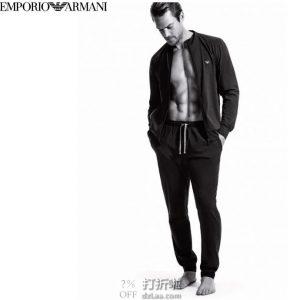 镇店之宝 Emporio Armani 安普里奥·阿玛尼 弹力棉 男式休闲套装 中亚Prime会员免运费直邮到手约¥519 两色可选