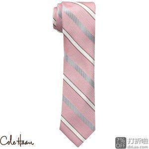 Cole Haan 可汗 真丝条纹领带 2.6折$12.84 海淘转运到手约¥94
