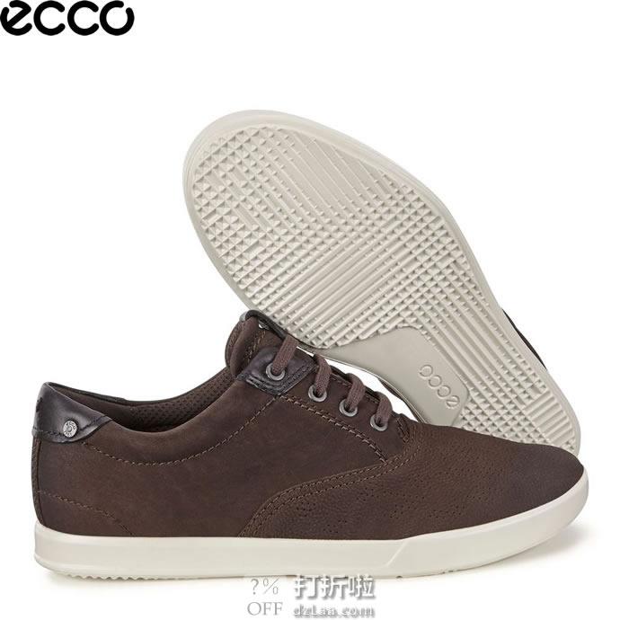 ECCO 爱步 Collin 2.0 CVO 男式系带休闲鞋 41码2.8折$42.03 海淘转运到手¥387