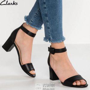 Clarks 其乐 deva MAE 一字扣 女式凉鞋 37.5码¥327 中亚Prime会员免运费直邮到手约¥360