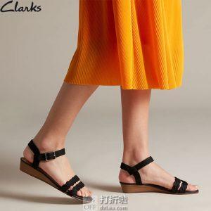 限尺码 Clarks 其乐 MENA Blossom 女式坡跟罗马凉鞋 ¥289起 中亚Prime会员免运费直邮到手约¥94