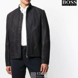 HUGO Hugo Boss 雨果·博斯 Lectric 小羊皮 男式皮夹克 L码2.7折¥1228 中亚Prime会员免运费直邮到手约¥1351