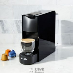 Breville 铂富 Nespresso 雀巢 合作款 Essenza Mini 迷你胶囊咖啡机 5.7折$85.49史低 海淘转运到手¥822
