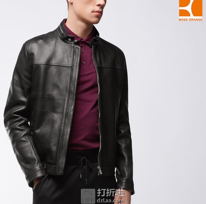 HUGO BOSS Orange 雨果博斯 橙标 Luckas 男式立领羊皮夹克 M码¥1419 中亚Prime会员免运费直邮到手约¥1559