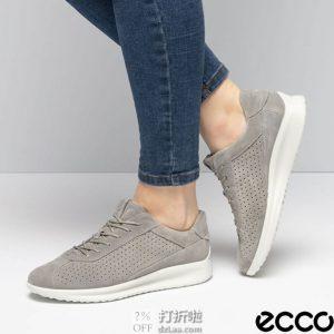 ECCO 爱步 Aquet 雅仕 打孔版 女式系带休闲板鞋 37码 ¥414