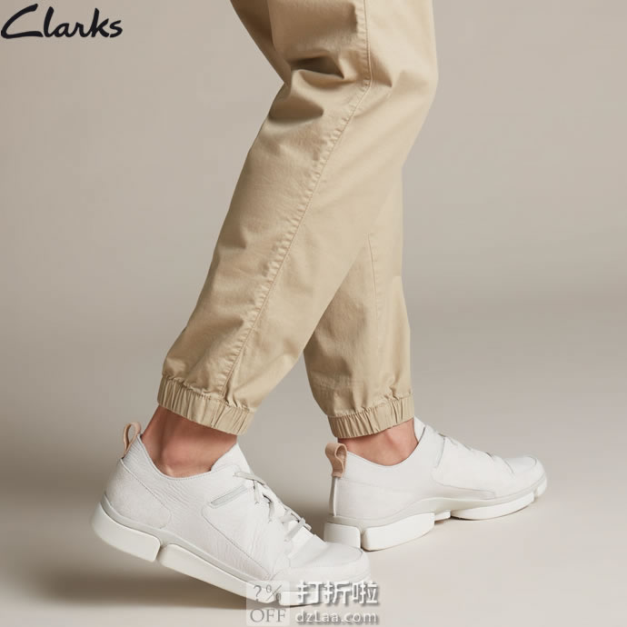 Clarks 其乐 TriVerve Lace 轻盈三瓣底 男式休闲鞋 ¥359起 中亚Prime会员免运费直邮到手约¥399