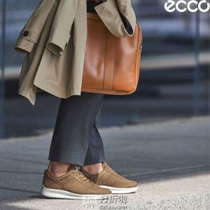 ECCO 爱步 Aquet Tie 打孔版 男式系带休闲板鞋 41码4.2折 中亚Prime会员免运费直邮到手约¥444
