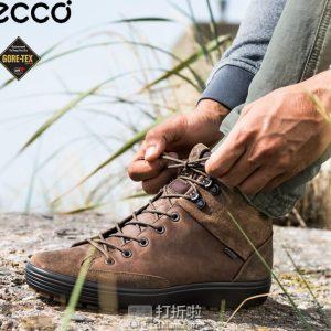 ECCO 爱步 柔酷7号 Tred GTX防水 户外男式高帮休闲鞋 40码3.8折 中亚Prime会员免运费直邮到手约¥577