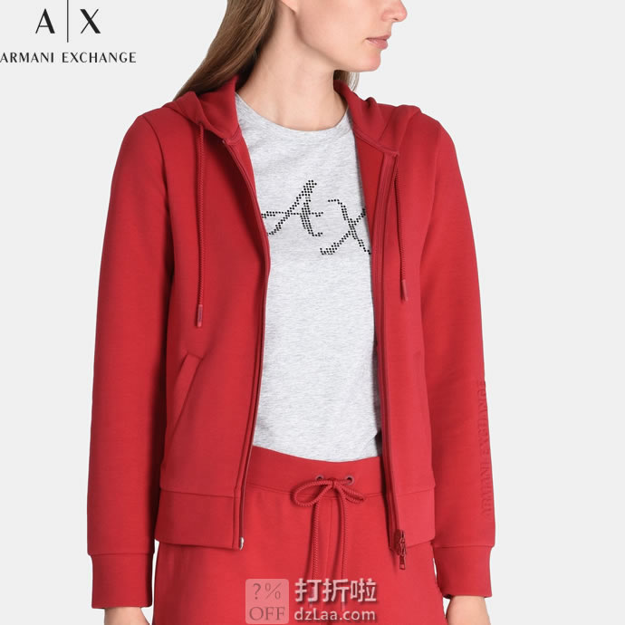 Armani Exchange 阿玛尼 A|X 女式连帽卫衣 XS码4.1折$40.76 海淘转运到手约¥326