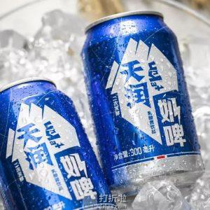 天润 TERUN 奶啤乳酸菌风味牛奶饮品 300ml*12罐 天猫优惠券折后¥52包邮(¥72-20)京东¥62.8