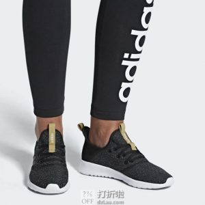 限Prime会员 金盒特价 adidas 阿迪达斯 Cloudfoam Pure 女子休闲跑鞋 4.7折$32.89起 海淘转运到手约¥315