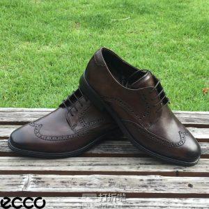 ECCO 爱步 Melbourne 墨本系列 布洛克风格 男式系带正装鞋 德比鞋 43码¥520 中亚Prime会员免运费直邮到手约¥582
