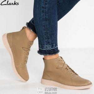 Clarks 其乐 Hale Rise 男式高帮休闲鞋 40码¥329 中亚Prime会员免运费直邮到手约¥362