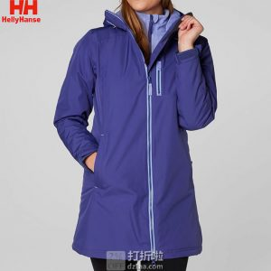Helly Hansen 哈里汉森 Long Belfast 防水防风透气保暖 三合一 中长款女式冲锋衣 XS码3折$55.66 海淘转运到手约¥442 中亚Prime会员免运费直邮到手约¥460