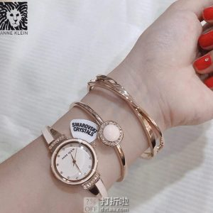 Anne Klein 安妮克莱因 18年款 AK 施华洛世奇水晶 女式手表手镯套装 AK/3292 镇店之宝¥308 中亚Prime会员免运费直邮到手¥356