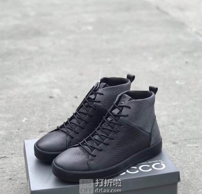 ECCO 爱步 Soft 8 柔酷8号 秋冬款 男式高帮鞋 系带短靴 43码¥565